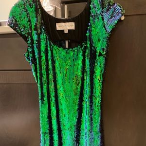 Sequin fitted mini dress